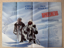 Spies Like Us, Original UK Quad Poster, Chevy Chase, Dan Aykroyd, '85